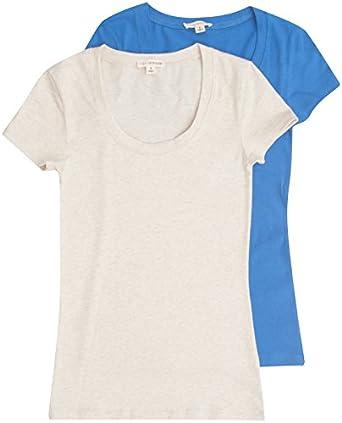8c239bf94 Zenana Women's Basic Scoop Neck T-shirt (2 Pack)