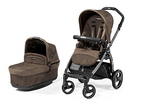Peg Perego Book Pop Up Stroller, Circles Choco - 1
