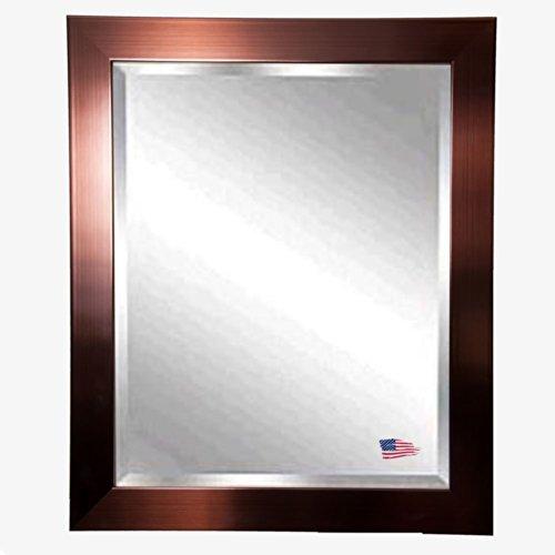 American Made Rayne Shiny Bronze Beveled Wall Mirror, 30.5 X 36.5 front-196052