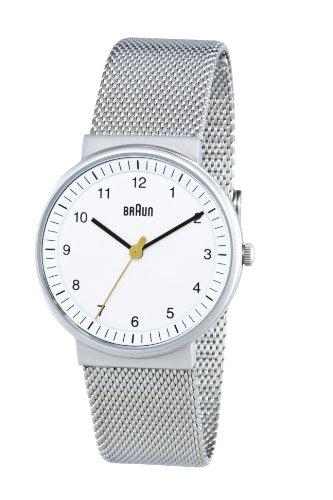 Braun Ladies Quartz 3 Hand Movement Stainless Steel Watch BN0031WHSLMHL With Mesh Bracelet