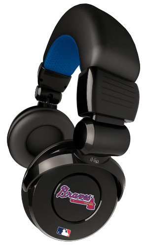 Ihip Official Mlb - Atlanta Braves - Noise Isolation Pro Dj Quality Headphone With Detachable Cord And Built-In Microphone With Volume Control Mlh26Nep