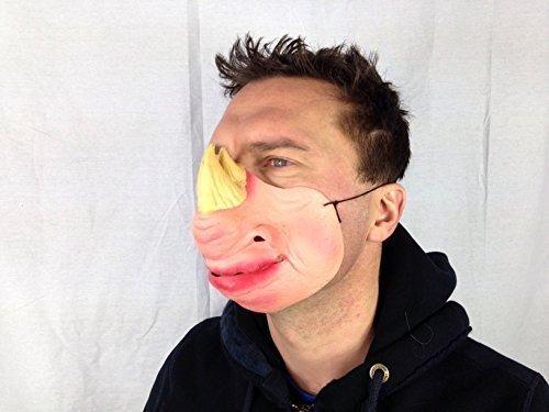 "RHINO ""Half Face maschera in lattice Animal Fetish Fancy Dress Stag Party Masquerade"