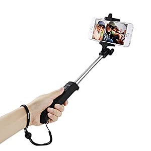 Poweradd 2nd Gen Wireless Bluetooth Selfie Stick Monopod with Built-in Bluetooth Remote Shutter for Apple iPhone 6 Plus 6 5S 5C 5 4S, Samsung Galaxy S6 Edge S5 Note4, LG G4 G3 and More, iOS | Android