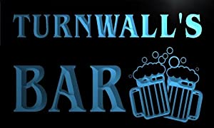 w101612 b TURNWALL Name Home Bar Pub Beer Mugs Cheers Neon Light Sign