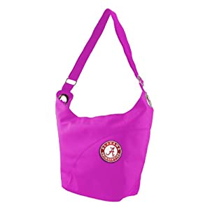 NCAA Alabama Crimson Tide Ladies Color Sheen Hobo Purse, Pink by Littlearth