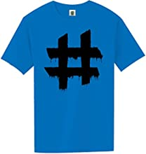 YOUTH Hashtag Short Sleeve Bright Neon Tee - 6 bright colors
