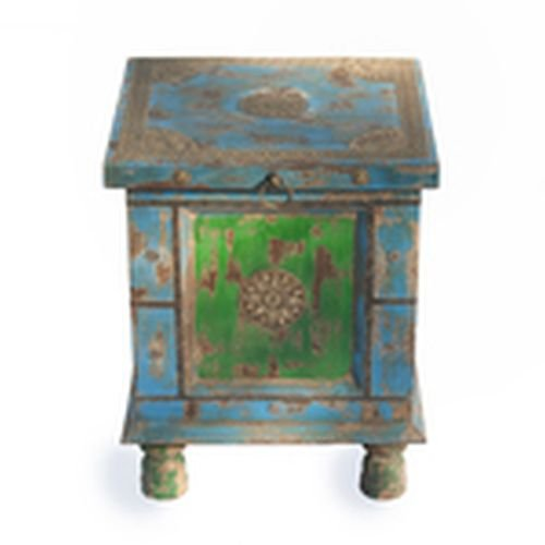Rustic Side Table In Multi Color