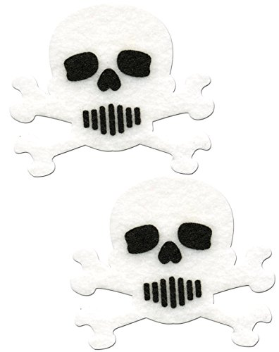 Skull Nipple Pasties White And Black Crossbones Pastease O/S