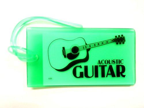 ミュージックIDバックタグ(アコースティックギター)グリーン