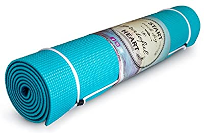 """Thick Yoga Mat Non-Slip - 1/4"""" Memory Foam for Comfort and Stability - Perfect for Beginner or Intermediate - 2 Mats in 1 - Eco Friendly - Enhance your Ashtanga, Vinyasa, Pilates - Order Today !"""