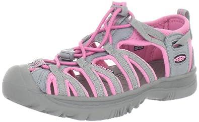 Keen Unisex - Child WHISPER Y-NEUTRAL GRAY/SACHET PINK Sandals Pink Pink (NEUTRAL GRAY/SACHET PINK) Size: 33