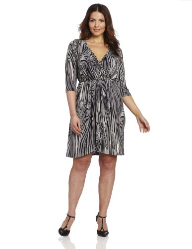 ec9d32a3fd1d Karen Kane Women s Wrap Top Pleated Dress - Wadulifashions