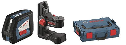 Bosch-Professional-GLL-2-50-Linien-Laser-bis-zu-50m-Arbeitsbereich-mit-Schutztasche-Laserzieltafel-L-BOXX-136-Ausrichtscheibe-Universalhalterung-BM1
