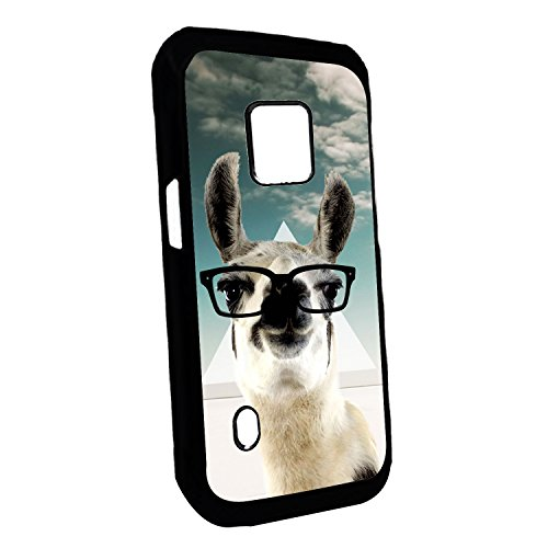 [TeleSkins] - Samsung Galaxy S5 Active Designer Plastic Case - Hipster Llama Geek Glass - Ultra Durable HARD PLASTIC Protective Snap On Back Case / Cover for Samsung Galaxy S5 Active.