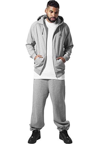 Urban Classics TB001 Blank Suit Urban Fit Tuta Uomo Felpa Zip Cappuccio Pantalone Grey
