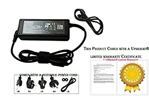 UpBright® NEW AC / DC Adapter For GATEWAY W323-UI1 Power Supply Cord Cable PS Charger Input: 100 - 240 VAC 50/60Hz Worldwide Voltage Use Mains PSU