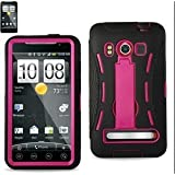 (Super Cover/Silicone Case + Protector Cover) HTC EVO 4G BLK/PINK Hard Case Sndplace