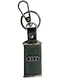 Parrk Audi Car Logo Leather Locking Key Chain