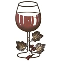Tripar Red Wine Metal Wall Decor