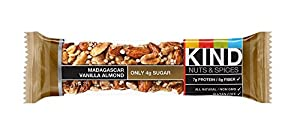 KIND Nuts & Spices sxnfm Bars, Madagascar Vanilla Almond, 24 Count lBZMU
