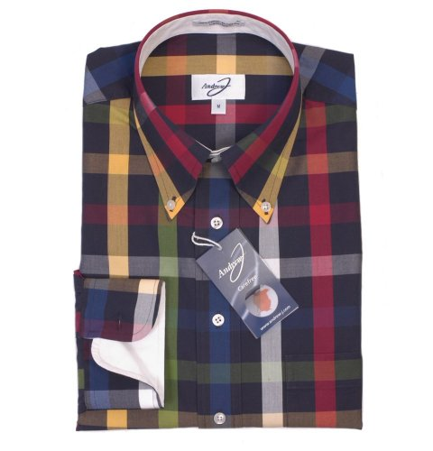 Andrew J Carefree Shirt - Navy Casual
