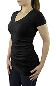 Belle Donne- Womens Short Sleeve V-n…
