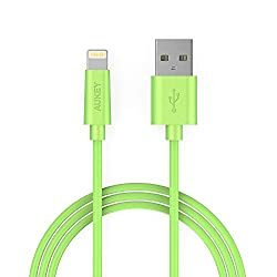 Aukey CB-D20 MFi Lightning 8 pin Sync and Charging Cable (Green)