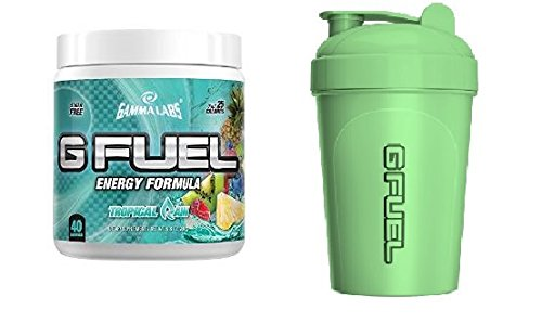 Gamma Labs G Fuel Tropical Rain plus Glow In The Dark Shaker COMBO Pack (Gamma Shaker Cup compare prices)