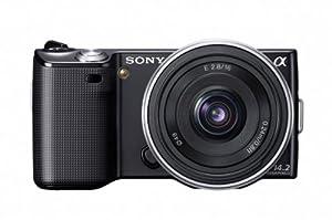Sony NEX5A Kit Compact numérique hybride 14,2 Mpix Noir + Objectif Pancake 16 mm F2,8