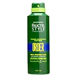 (Pack Of 4) Garnier Fructis Style Power Hairspray For Men 24 H Extra Strong Hold, 6.0 Oz Each