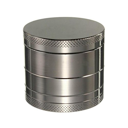Sandistore 4-layer Aluminum Herbal Herb Tobacco Grinder Smoke Grinders (Gray) (Hookah Grinder compare prices)
