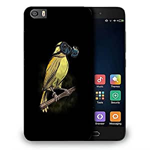 Snoogg Bird With Mask Designer Protective Back Case Cover For REDMI 5