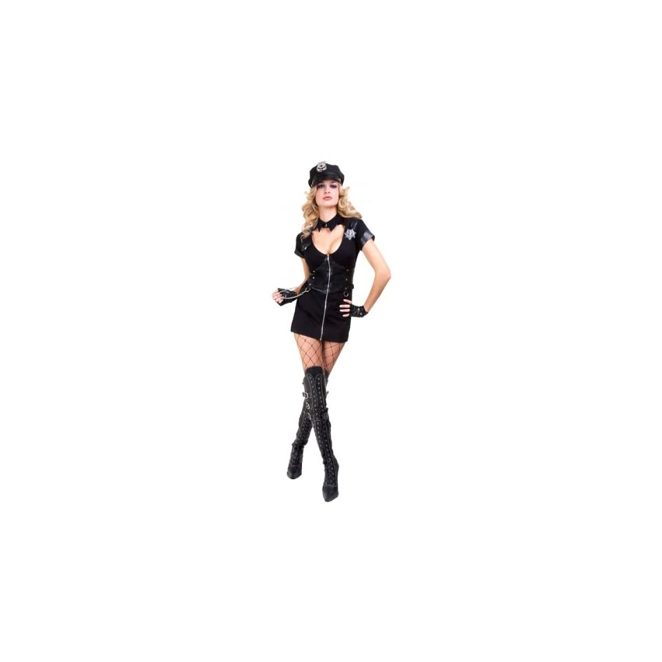 Womens Sexy Police Officer Costume Adult Sized Costumes Clothing