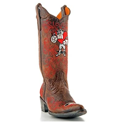 Ladies Cowboy Boots University Of Georgia Gameday Boots Bulldogs Pointy Toe Brown... by GameDay