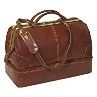 Floto Positano Grande Vecchio Brown Leather Luggage Travel Bag from Floto