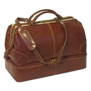 Floto Positano Grande Vecchio Brown Leather Luggage Travel Bag from Floto
