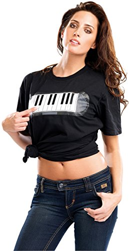 infactory-T-Shirt-mit-Piano-Gre-M