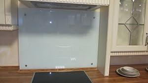 Glass Wall Tile Kitchen Back Mirror 90cm Wide Cooker Hoods