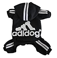 Scheppend Adidog Pet Clothes for Dog Cat Puppy Hoodies Coat Winter Sweatshirt Warm Sweater