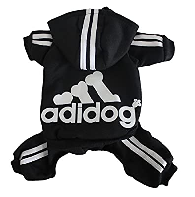 Scheppend Adidog Pet Clothes for Dog Cat Puppy Hoodies Coat Winter Sweatshirt Warm Sweater