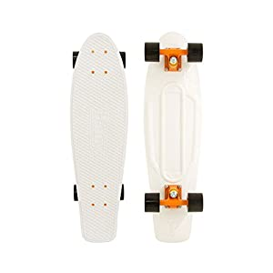 Penny Nickel Complete Skateboard (USA White/Orange)