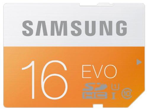 Samsung Memory 16GB Evo SDHC UHS-I Grade 1 Class 10 Memory Card