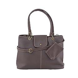 Jewlot Brown PU Women's Handbags 1090