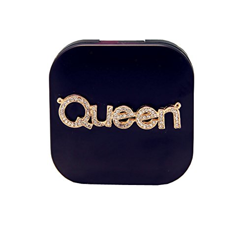[Creative Travel Contact Lenses Case Storage Holder, Black Queen] (Prescription Colored Contact Lenses)