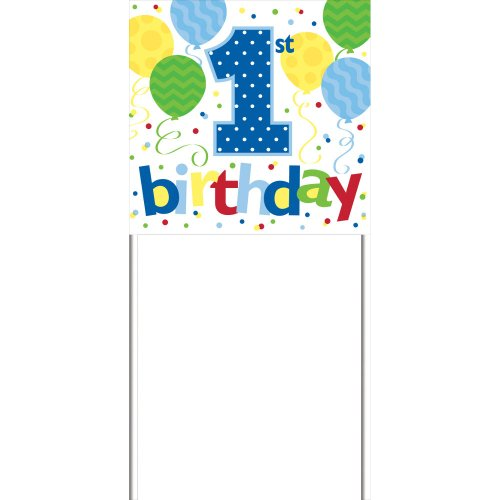1st Birthday Boy Yard Sign
