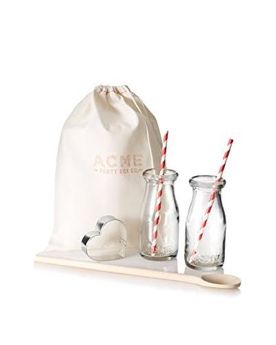 ACME Party Box Milk-N-Cookies Heart Set