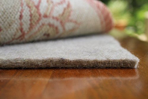 100% Felt Rug Pad - SAFE for all floors - Extra Thick - 4' x 6' - Add Cushion, Comfort and Protection (Extra Thick Rug Pad compare prices)
