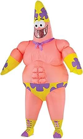 Girls Patrick Star Costume Amazoncouk Clothing