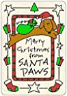 Crunch Card Merry Christmas from Santa Paws