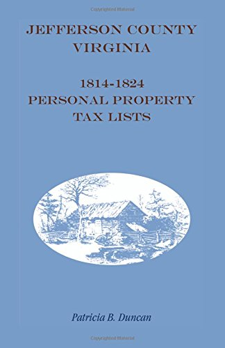 Jefferson County, Virginia, 1814-1824, Personal Property Tax Lists